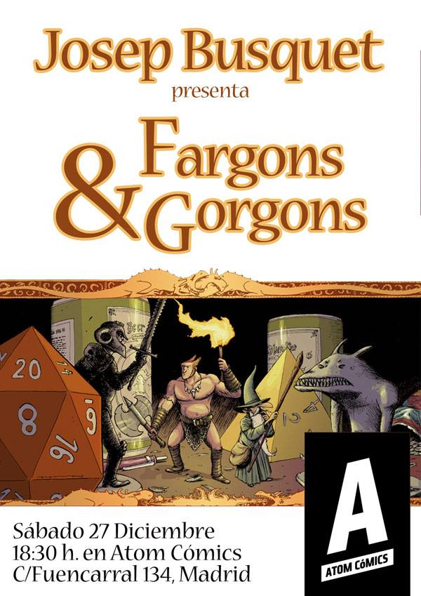 Presentación de Fargons & Gorgons en Atom cómics