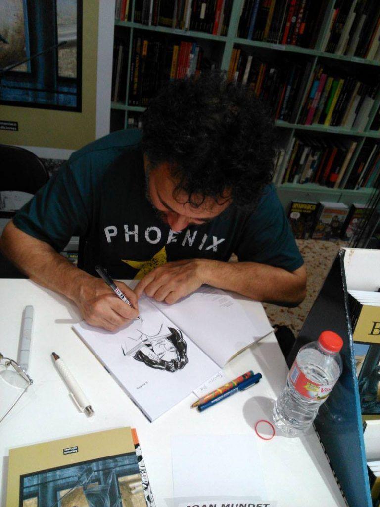 Firmas de Joan Mundet en Norma cómics Sabadell