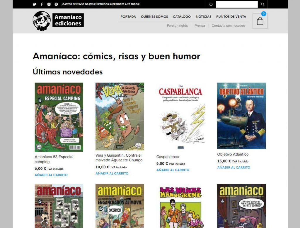 La nueva web de Amaníaco
