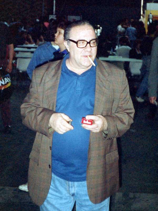Manuel Vázquez en el Salón del cómic de Barcelona